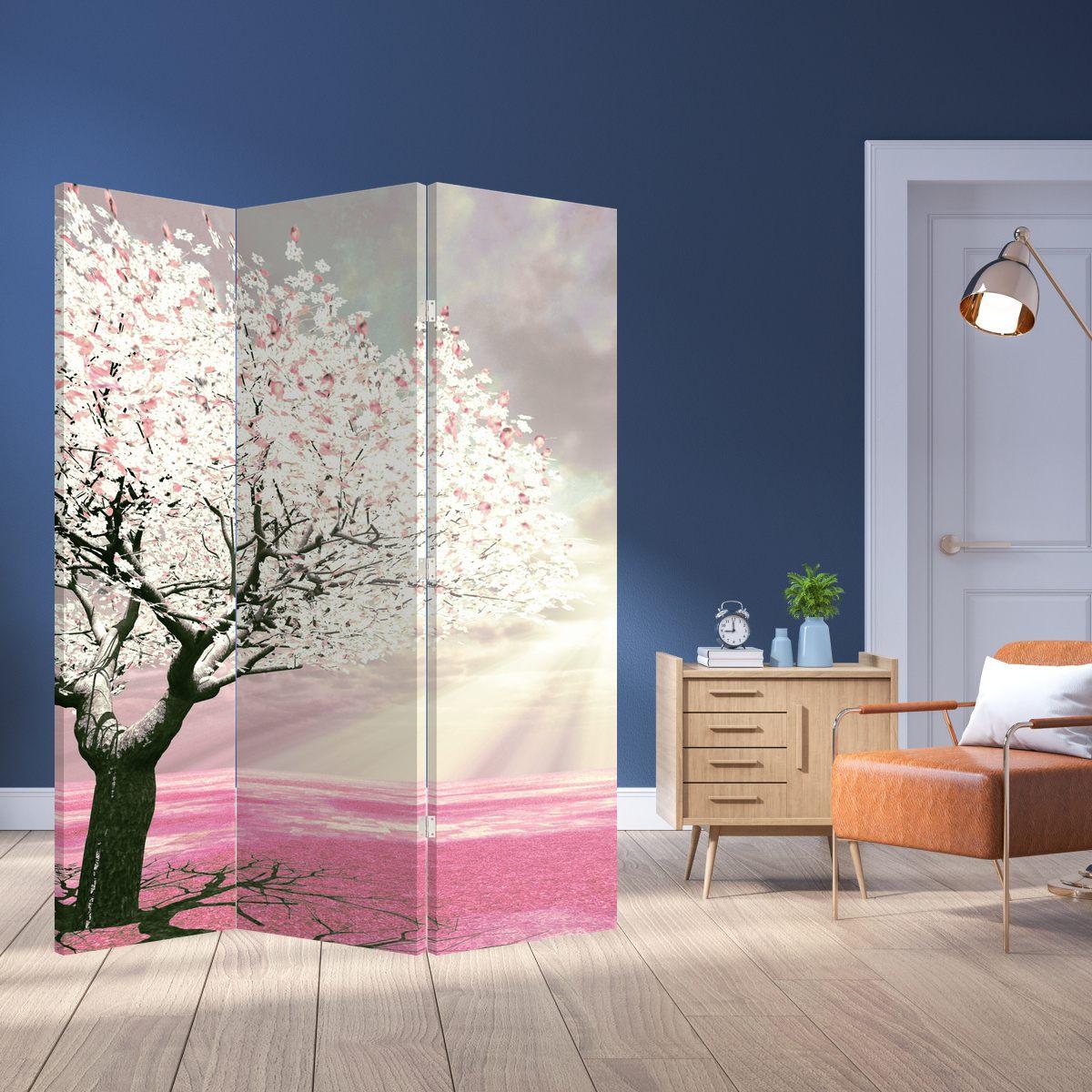 Paraván - Růžový strom (P020058P135180)