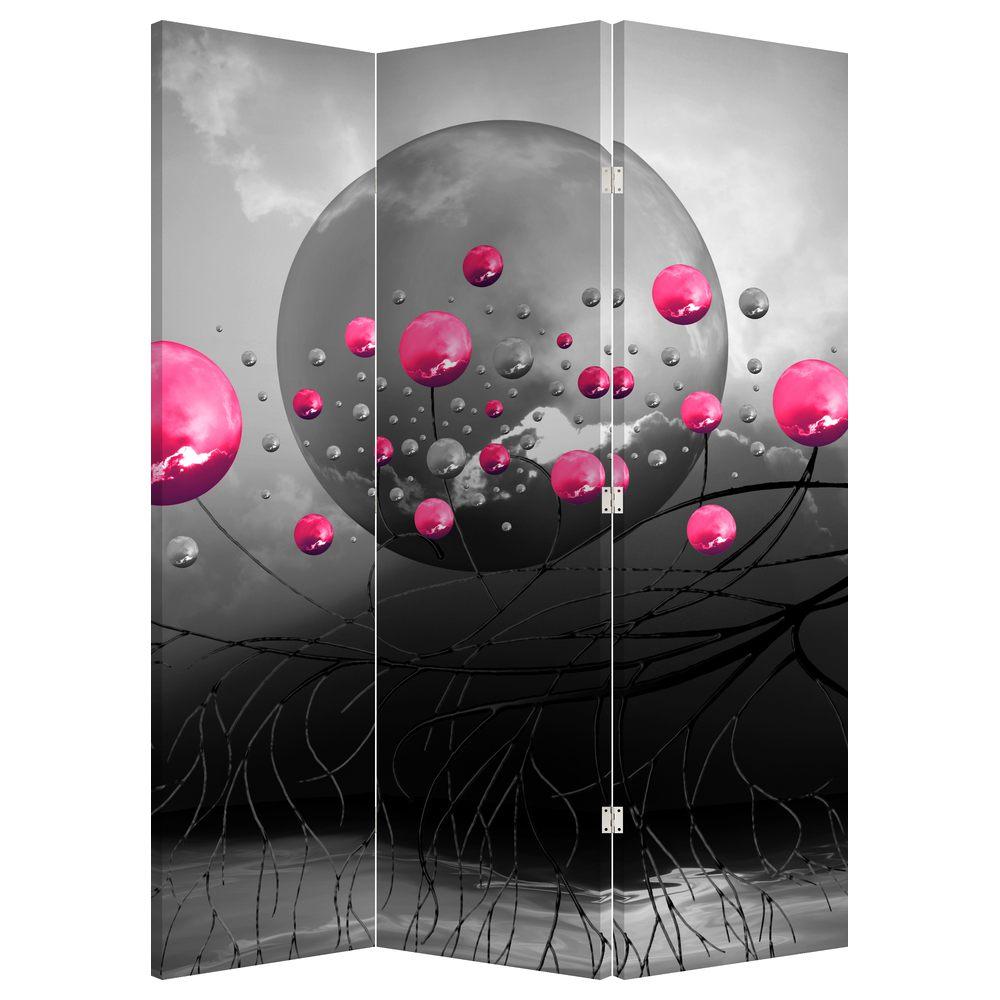 Paraván - Růžové abstraktní koule (P020097P135180)