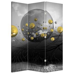 Paraván - Zlaté abstraktní koule (P020099P135180)