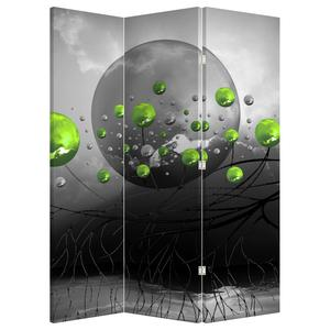 Paraván - Zelené abstraktní koule (P020103P135180)
