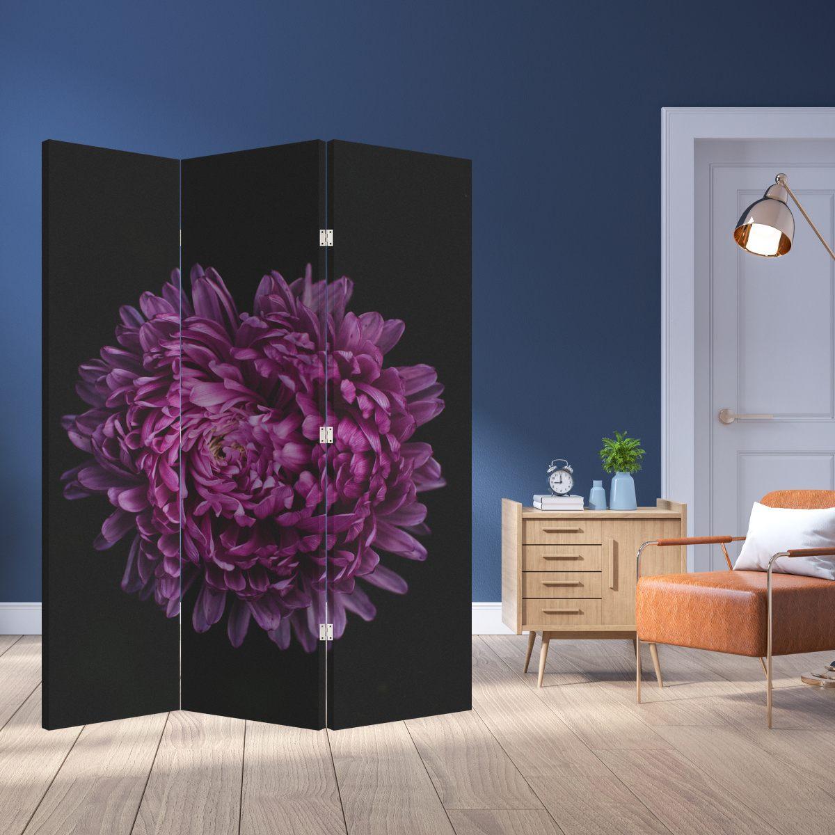 Paraván - Fialová květina (P020427P135180)