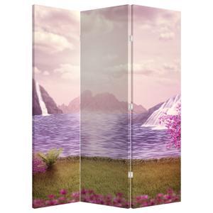 Paraván - Růžové stromy s jezerem (P020463P135180)