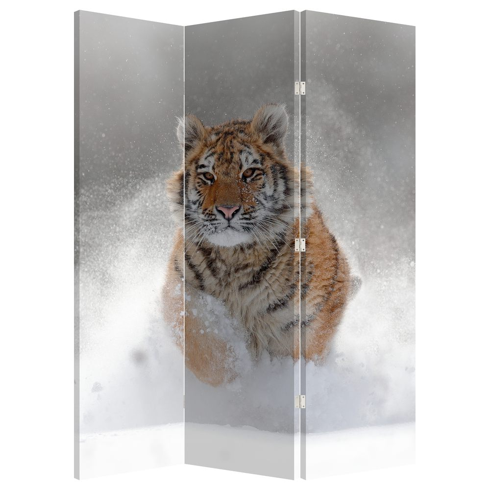 Paraván - Bežiaci tiger v snehu (P020719P135180)
