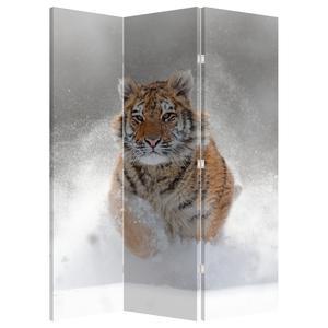 Paraván - Běžící tygr ve sněhu (P020719P135180)