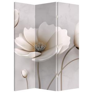 Paraván - Biele kvety (P020898P135180)