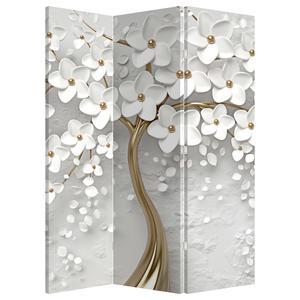 Paraván - Bílý strom s květinami (P020977P135180)