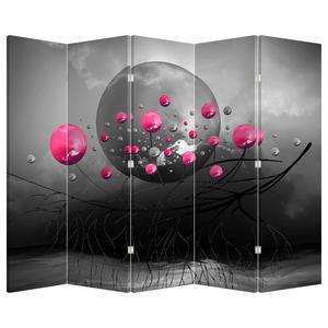 Paraván - Růžové abstraktní koule (P020097P225180)
