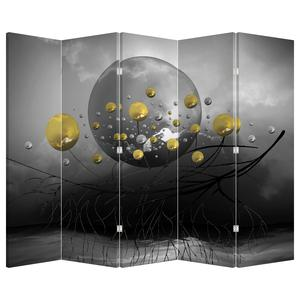 Paraván - Zlaté abstraktné guľa (P020099P225180)