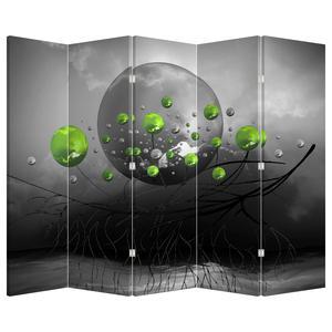 Paraván - Zelené abstraktné guľa (P020103P225180)