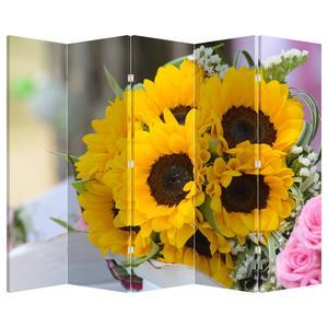 Paraván - Svatební kytice ze slunečnic (P020261P225180)
