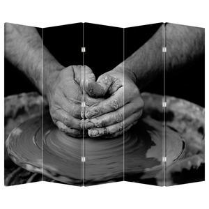 Paraván - Výroba keramiky - černobílý (P020349P225180)