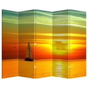 Paraván - Západ slunce s jachtou (P020360P225180)