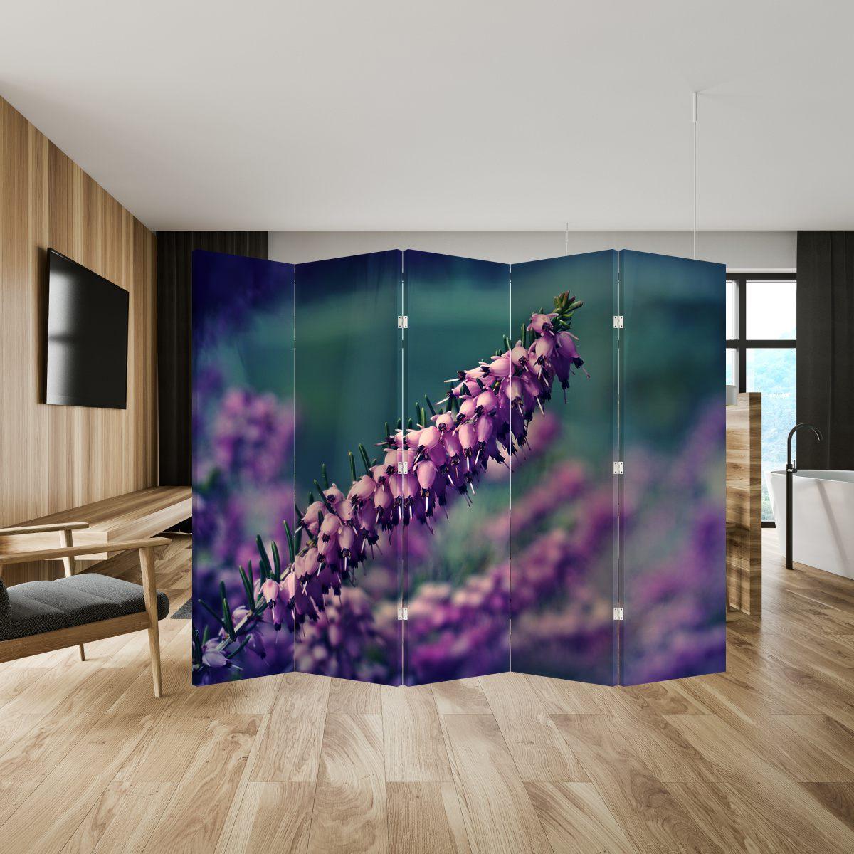 Paraván - Fialová květina (P020421P225180)