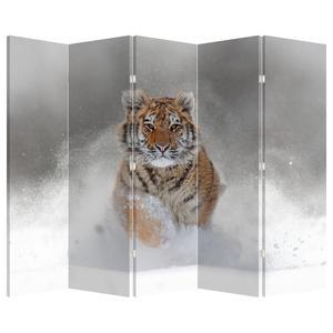 Paraván - Běžící tygr ve sněhu (P020719P225180)