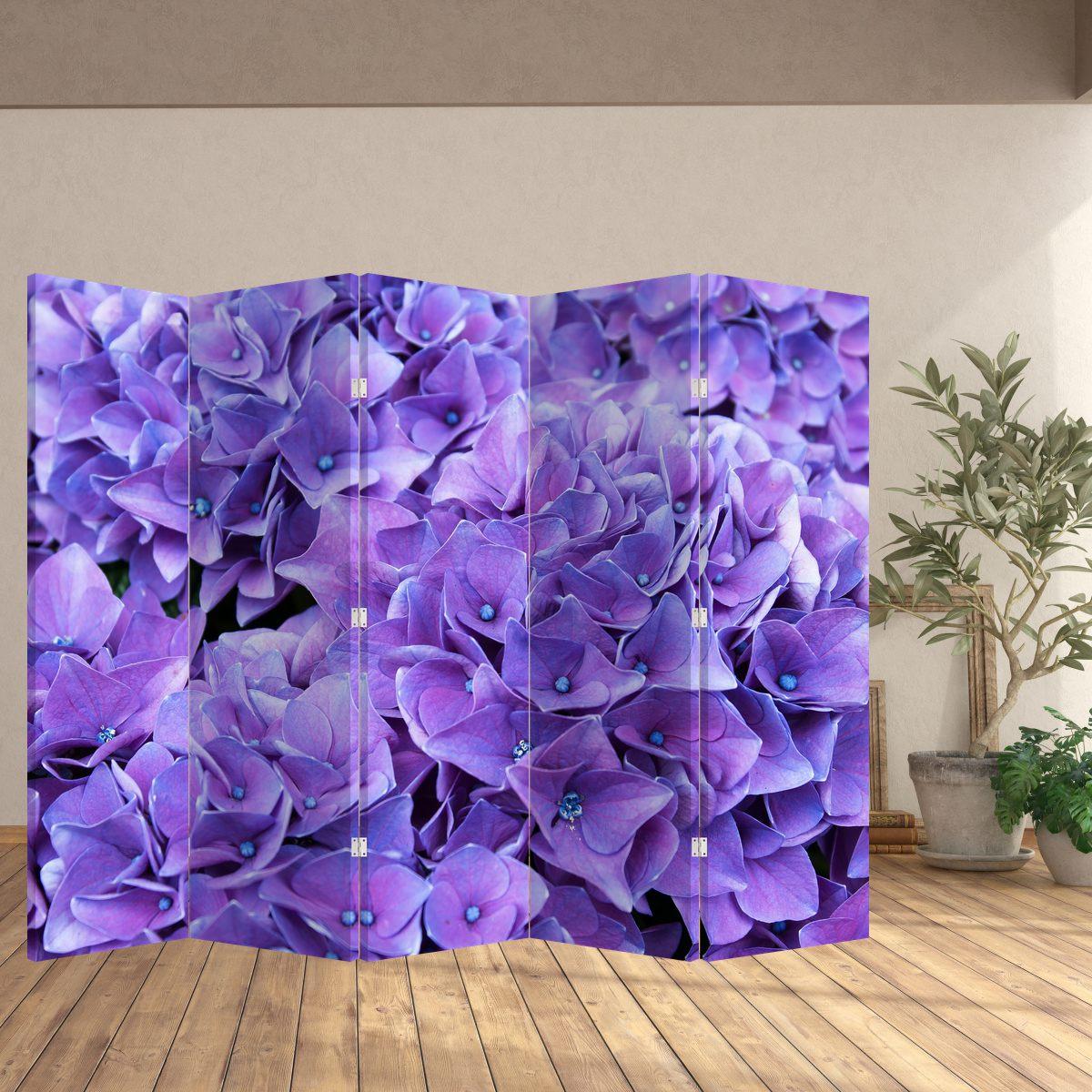 Paraván - Fialová květina (P020806P225180)