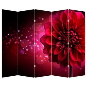 Paraván - Červená květina (P020807P225180)