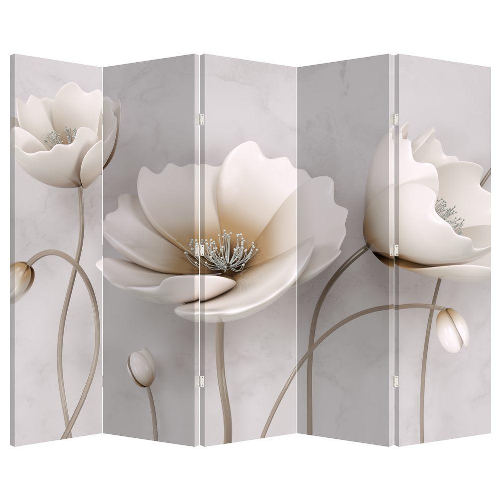 Paraván - Biele kvety (P020898P225180)