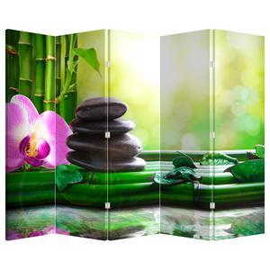 Paraván - Masážní kameny a orchideje na vodě (P020902P225180)
