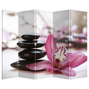 Paraván - Masážní kameny a orchideje (P020910P225180)