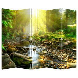 Paraván - Rieka v zelenom lese (P020942P225180)