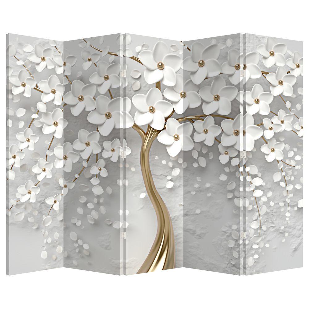Paraván - Biely strom s kvetinami (P020977P225180)