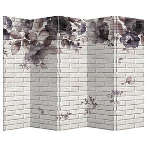 Paraván - Zeď s kyticí (P021111P225180)