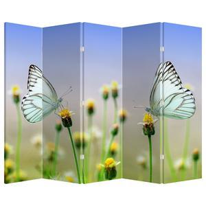 Paraván - Motýl na květině (P021248P225180)