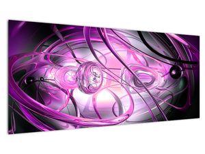 Obraz krásné fialové abstrakce (V020060V10040)