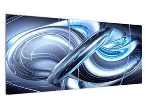 Tablou cu abstracție albastră (V020061V10040)