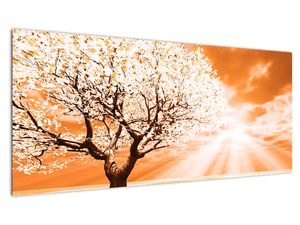 Oranžový obraz stromu (V020095V10040)