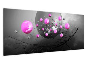 Tablou cu bile roz  (V020105V10040)