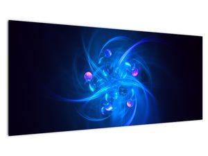 Moderní obraz modré abstrakce (V020137V10040)