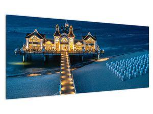 Tablou - hotel pe plajă (V020289V10040)