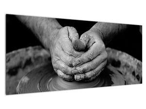 Černobílý obraz - výroba keramiky (V020349V10040)