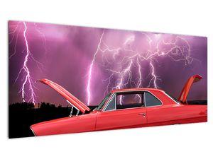 Slika crvenog automobila (V020409V10040)