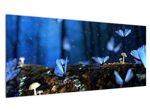 Obraz modrých motýlů (V020434V10040)
