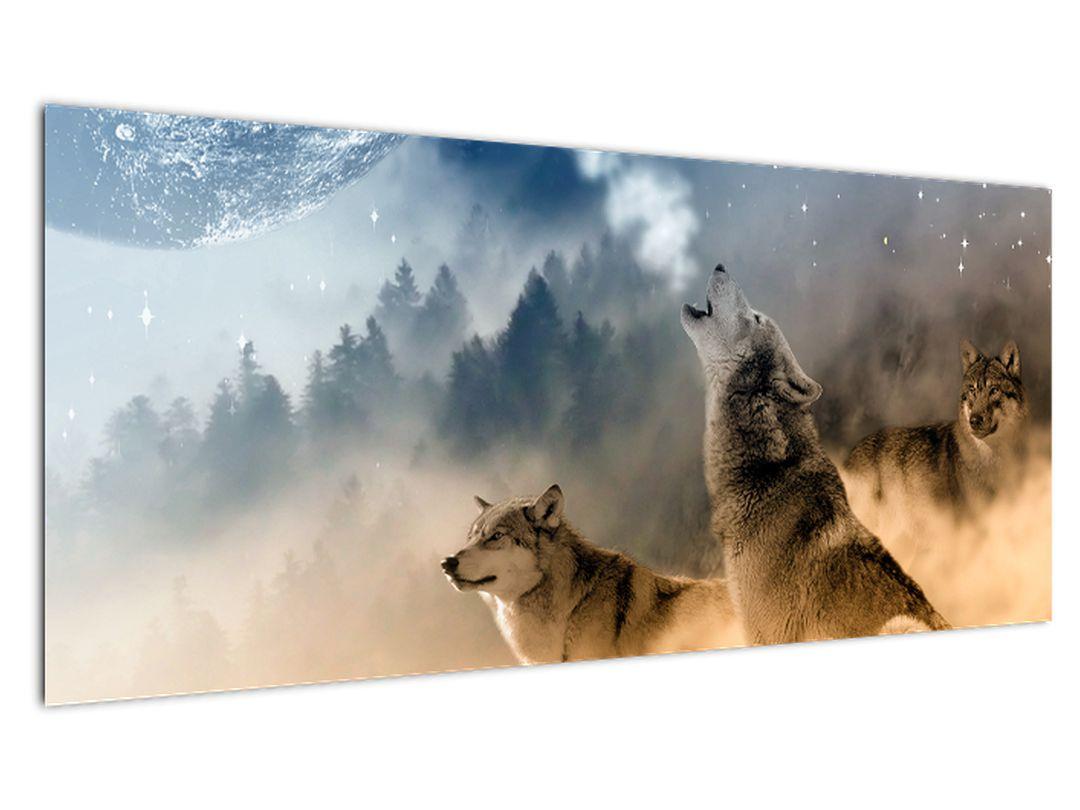 Slika - vukovi zavijaju na mjesec (V020509V10040)