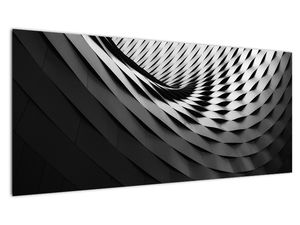 Abstraktní obraz - černobílá spirála (V020667V10040)