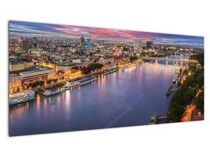 Obraz nočného mesta Bratislavy s riekou (V020706V10040)