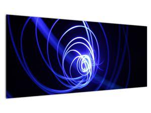 Obraz modrých spirál (V020815V10040)
