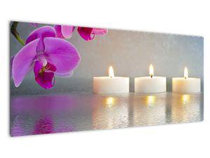Obraz svíček na vodě (V020817V10040)