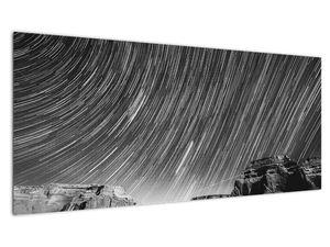 Crno-bijela slika zvjezdanog neba (V020825V10040)