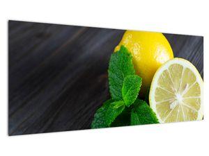 Obraz citrónů a máty na stole (V020884V10040)