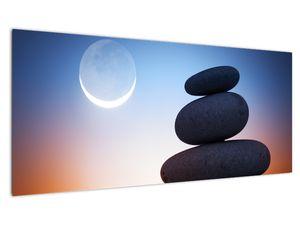 Obraz poskládaných kamenů na sobě (V020903V10040)