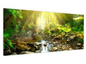 Obraz řeky v zeleném lese (V020942V10040)