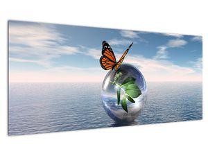 Obraz motýla na skleněné kouli (V021198V10040)