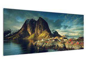 Obraz rybářské vesnice v Norsku (V021280V10040)
