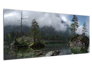 Slika drveća u jezeru (V021702V10040)