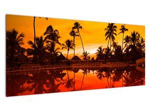 Slika - Zalazak sunca nad resortom (V021904V10040)