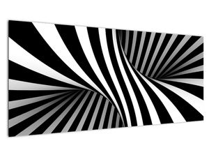 Apstraktna slika sa zebrastim prugama (V021960V10040)